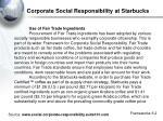 corporate social responsibility at starbucks1