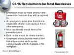 osha requirements for most businesses