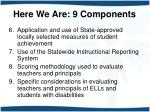 here we are 9 components1