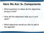 here we are 9 components3