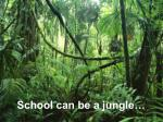 school can be a jungle