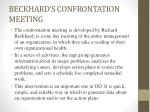 beckhard s confrontation meeting