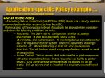 application specific policy example from information security policies procedures and standards