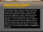 program policy example from information security policies procedures and standards