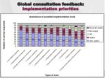 global consultation feedback implementation priorities