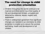 the need for change in child protection orientation