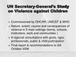 un secretary general s study on violence against children