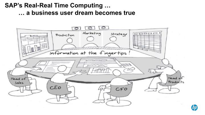 Sap s real real time computing a business user dream becomes true