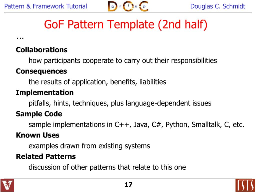 PPT - Object-Oriented Patterns & Frameworks PowerPoint Presentation