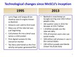 technological changes since mnscu s inception