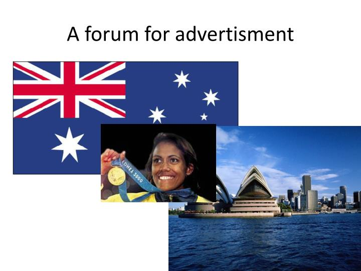 A forum for advertisment