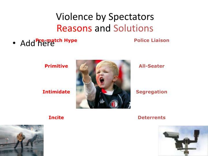 Violence by Spectators