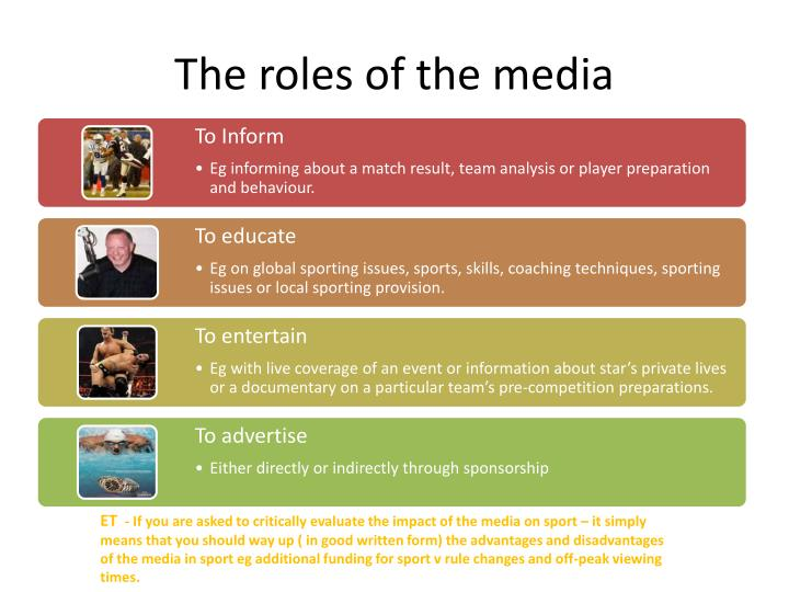 The roles of the media