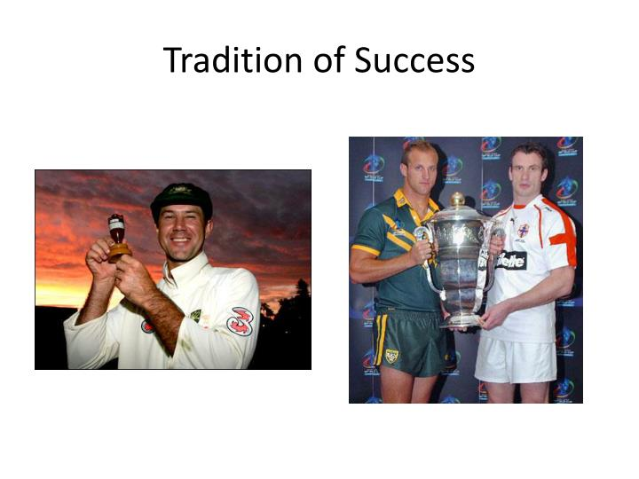 Tradition of Success