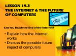 lesson 19 3 the internet the future of computers
