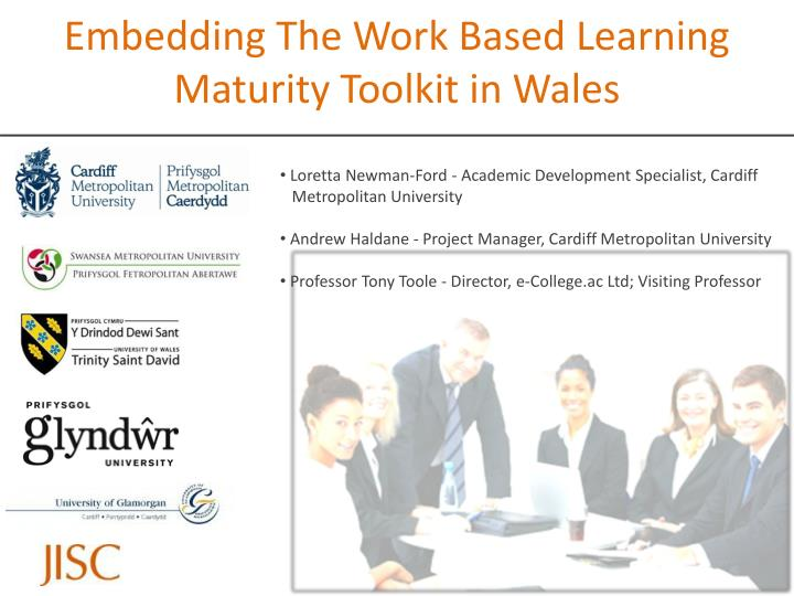 embedding the work based learning maturity toolkit in wales n.