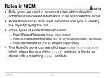 roles in niem1