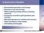 a smart grid is resilient