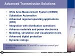 advanced transmission solutions