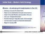 initial role modern grid strategy