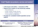 it will enable new products services and markets