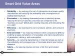smart grid value areas