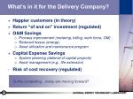 what s in it for the delivery company