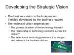 developing the strategic vision