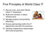 five principles of world class it