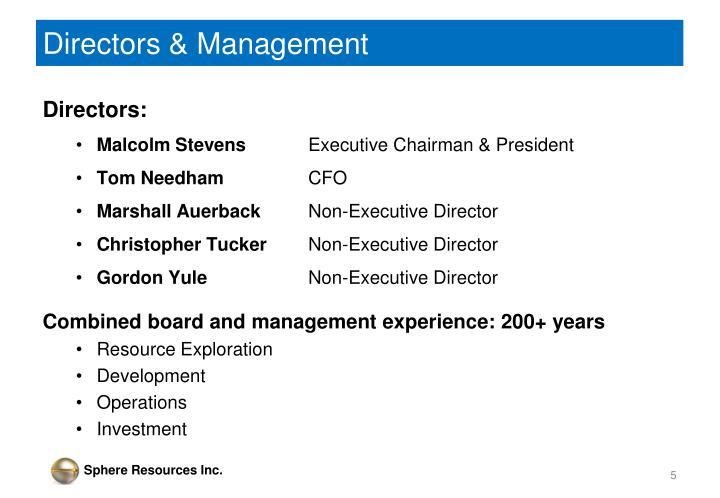 Directors & Management