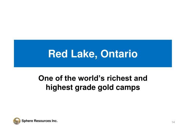 Red Lake, Ontario