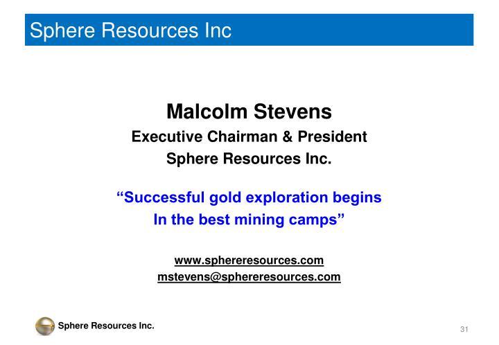 Sphere Resources Inc