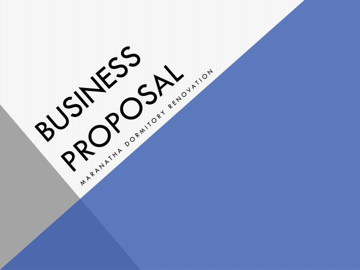 business proposal n.