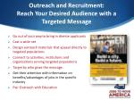 outreach and recruitment reach your desired audience with a targeted message