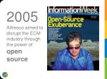 2005 alfresco aimed to disrupt the ecm industry through the power of open source