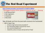 the red bead experiment