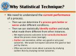 why statistical technique
