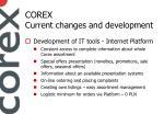 c orex current changes and development