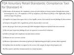 fda voluntary retail standards compliance tool for standard 4