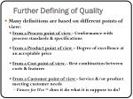 further defining of quality