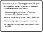 importance of management buy in
