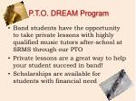 p t o dream program