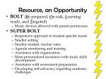 resource an opportunity