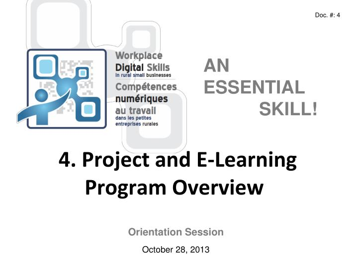 4 project and e learning program overview n.