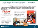 inclusive profitable business solutions ifc client digicel