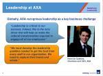 leadership at axa