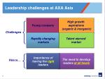 leadership challenges at axa asia