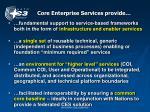 core enterprise services provide