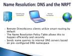 name resolution dns and the nrpt