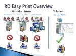 rd easy print overview